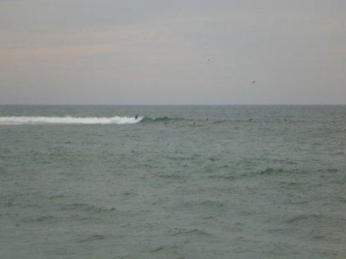 die Wellen lassen auf sich warten